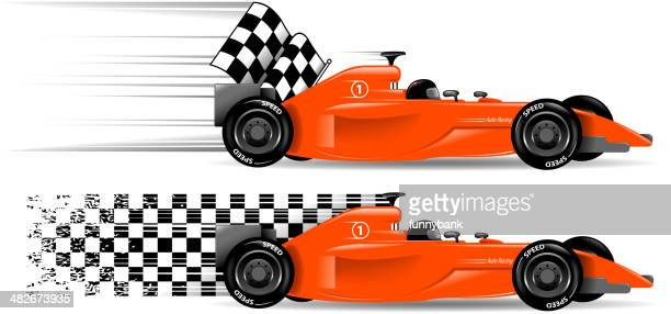 racecar - race car stock illustrations, clip art, cartoons, & icons