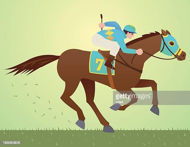 ilustraciones, imágenes clip art, dibujos animados e iconos de stock de caballo de carrera - evento ecuestre