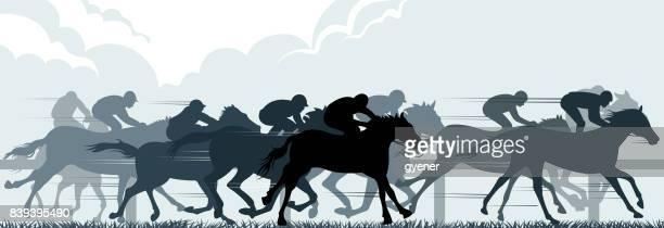 ilustrações de stock, clip art, desenhos animados e ícones de racehorse - pista de atletismo