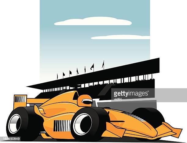 f1 racer - formula one racing stock illustrations, clip art, cartoons, & icons