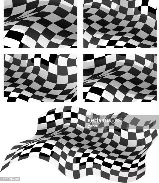 racing background - checkered flag stock illustrations