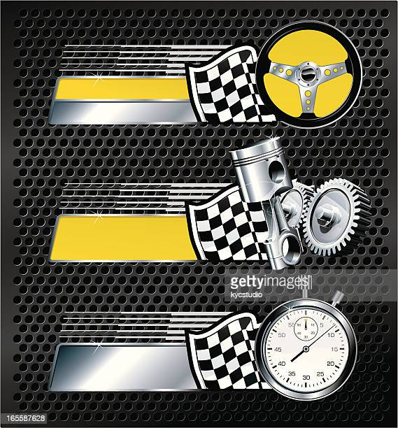 racing badges - rally car racing stock illustrations, clip art, cartoons, & icons
