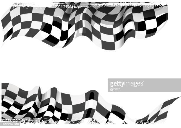 racing banner - motocross stock illustrations, clip art, cartoons, & icons