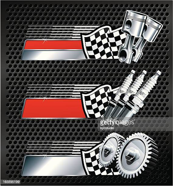racing banners - award plaque stock illustrations, clip art, cartoons, & icons