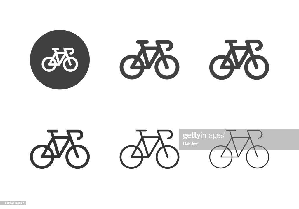 Rennrad-Ikonen - Multi-Serie : Stock-Illustration
