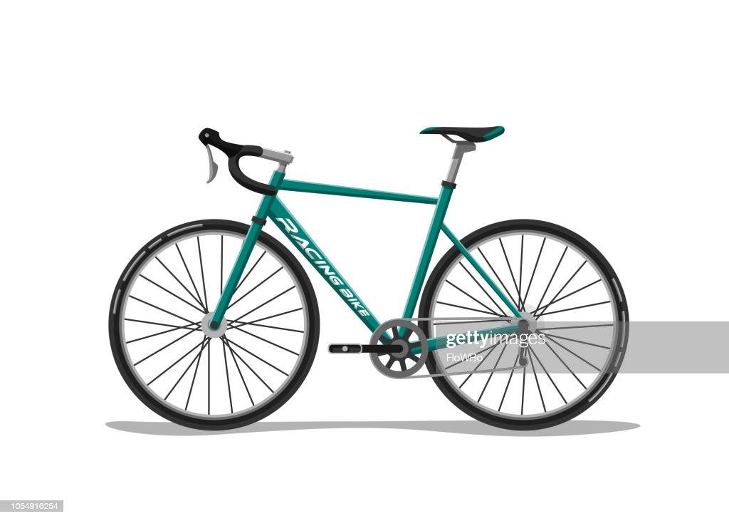 Racing Bike On White Background