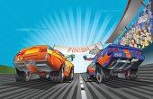 Racing Car fight