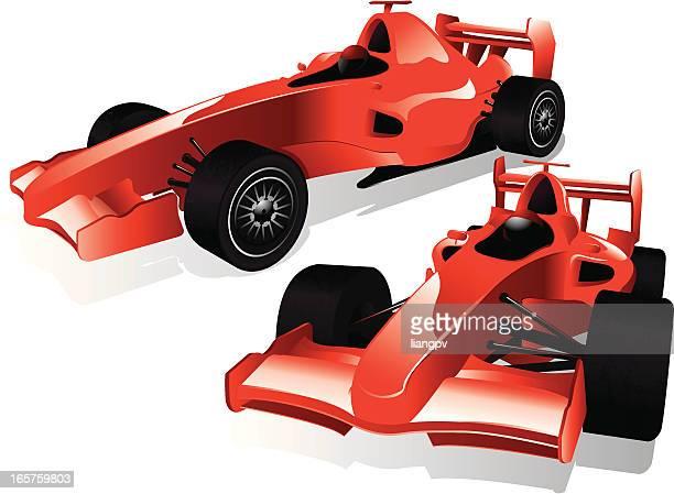 f1 racing car - formula one racing stock illustrations, clip art, cartoons, & icons