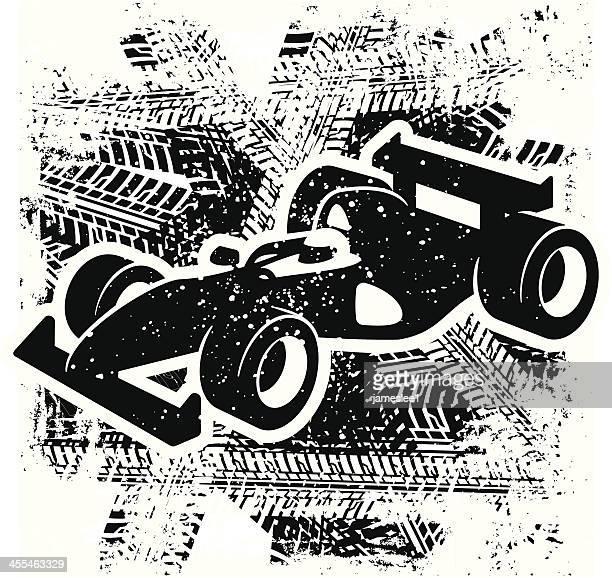 ilustrações, clipart, desenhos animados e ícones de carro de corrida - fórmula 1