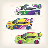 Racing cars for motor sport