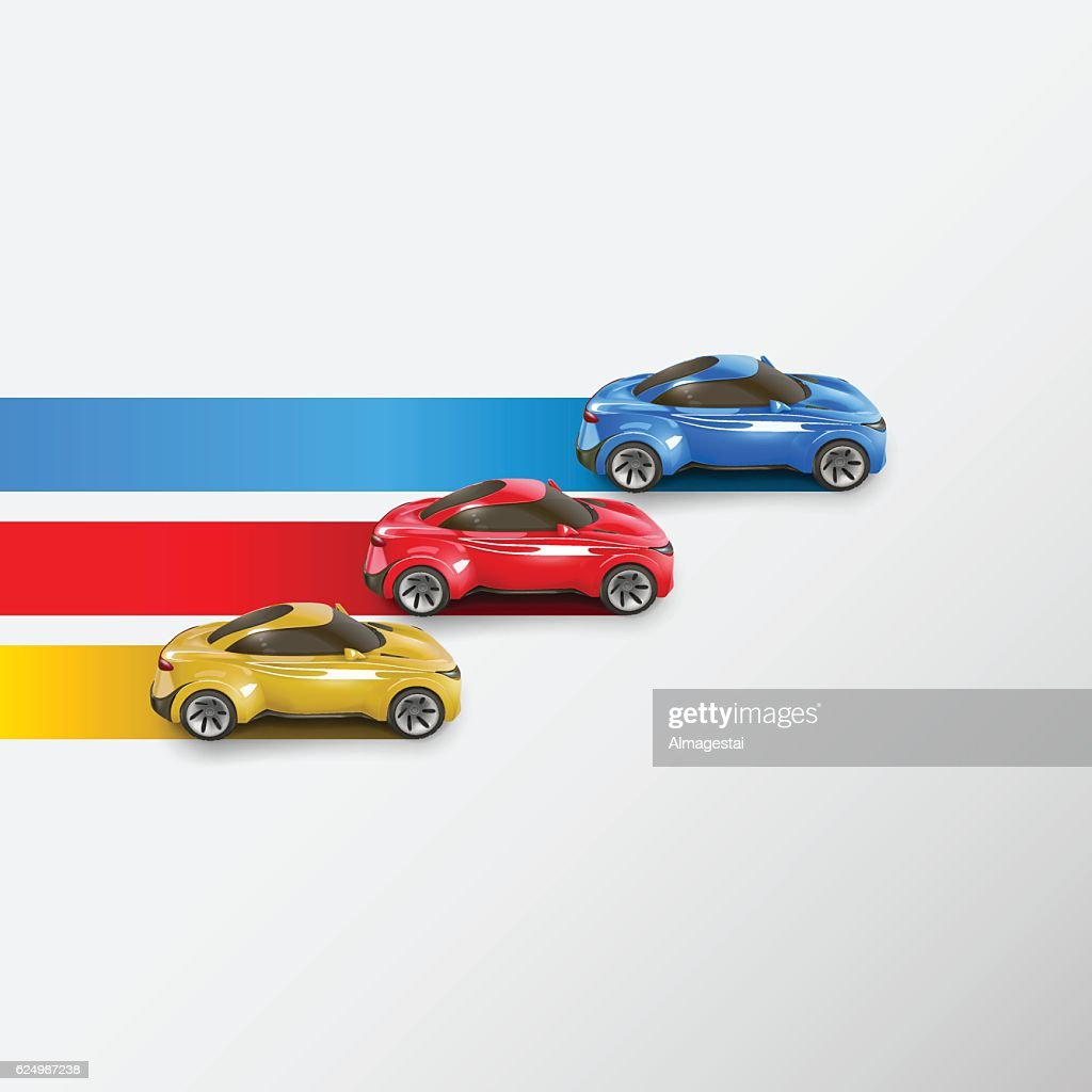 Racing cars. Vector illustration