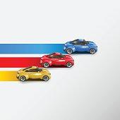 Racing cars. Vector illustration