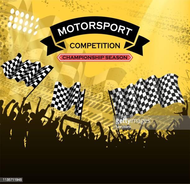 レーシングコンペティションシルエット - モータースポーツ グランプリ点のイラスト素材/クリップアート素材/マンガ素材/アイコン素材