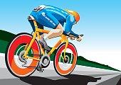Racing Cyclist Hi-Speed