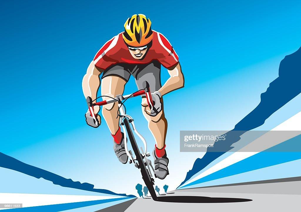 Racing Radfahrer Rot : Stock-Illustration