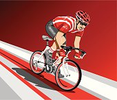 Racing Cyclist Spurt