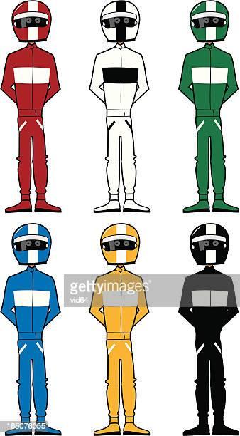 racing drivers - race car driver stock illustrations, clip art, cartoons, & icons