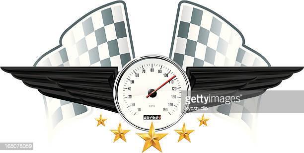 Racing emblem speed