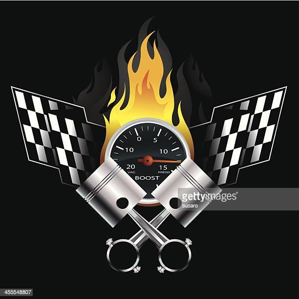 racing emblem - insignia stock illustrations
