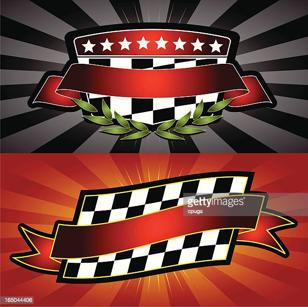 racing emblems - race car stock illustrations, clip art, cartoons, & icons