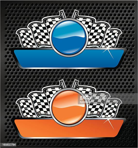 racing emblems - award plaque stock illustrations, clip art, cartoons, & icons