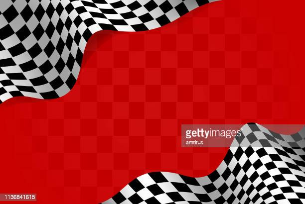racing flag borders - sports race stock illustrations