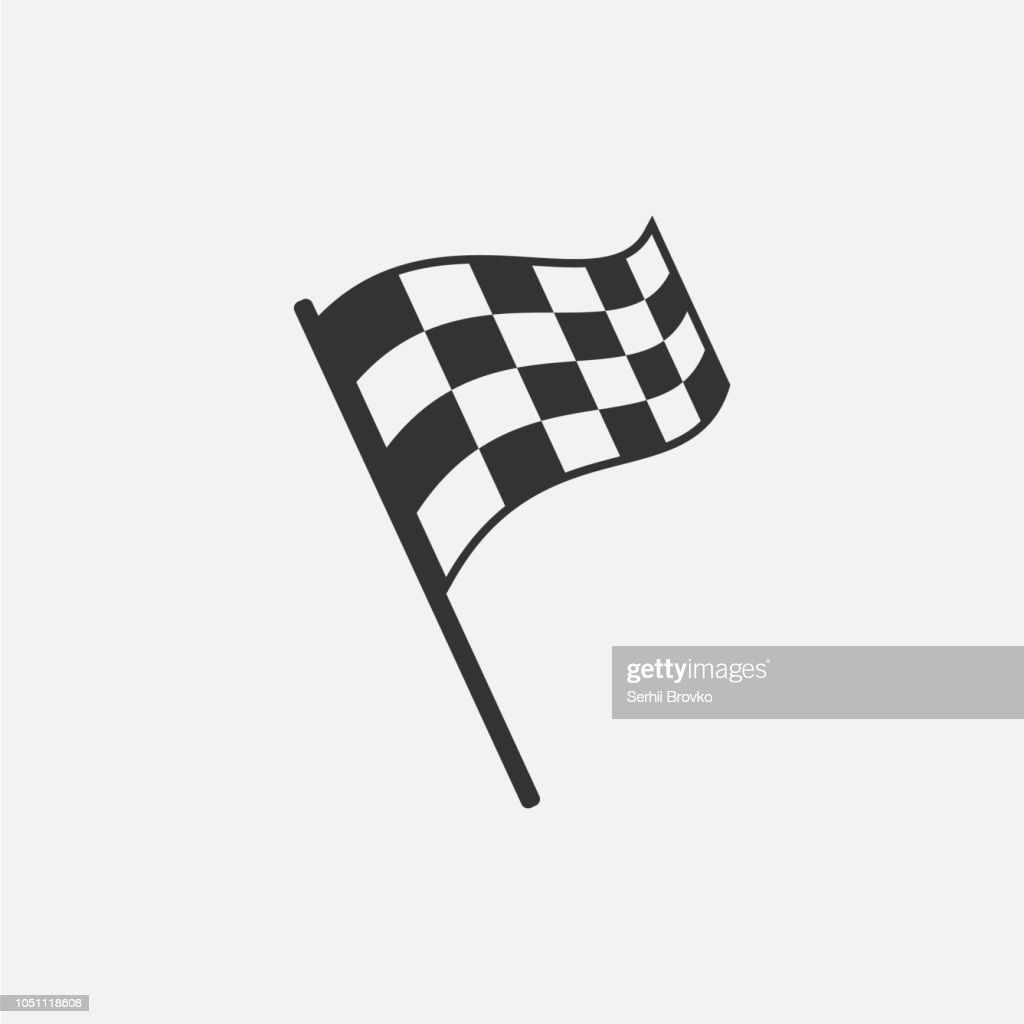 Racing flag isolated on white background. Vector illustration.