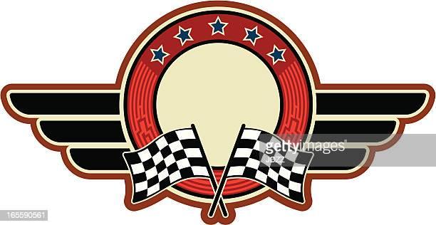 ilustrações, clipart, desenhos animados e ícones de racing flags do insignia - esporte motorizado
