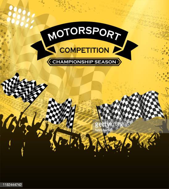 ilustraciones, imágenes clip art, dibujos animados e iconos de stock de silueta divertida de carreras - circuito de carreras de coches