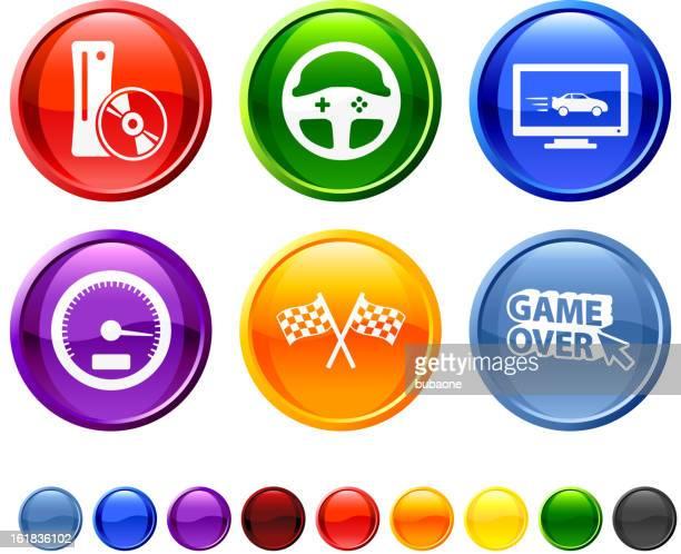 Racing Games royalty free vector icon set