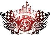 racing grunge emblem