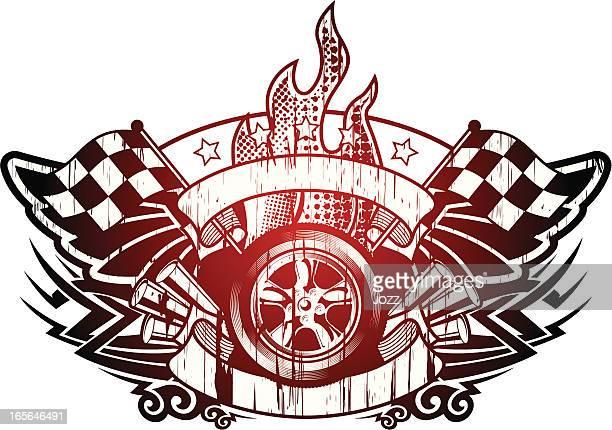 grunge Symbole de la course automobile