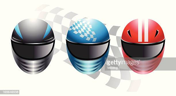 racing helmets - race car stock illustrations, clip art, cartoons, & icons