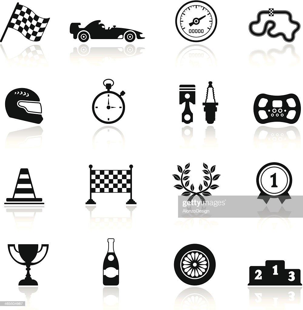 Racing Icon Set : stock illustration