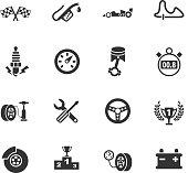 racing icon set