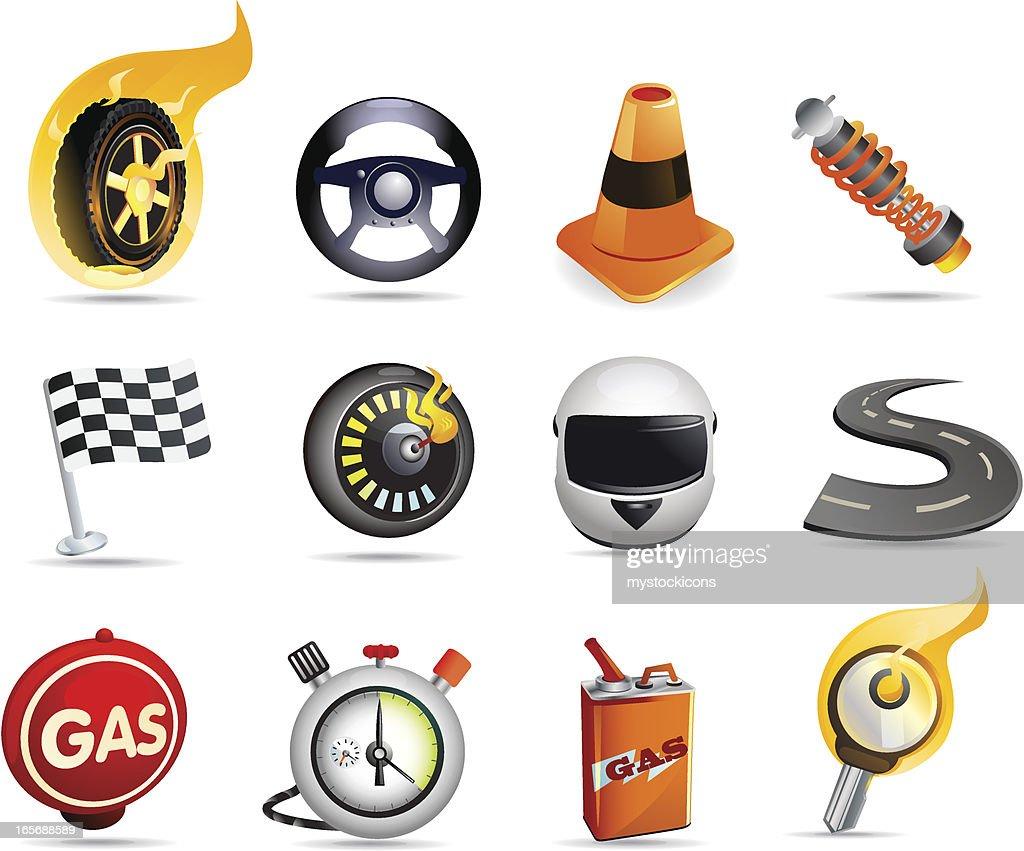 Racing Icons : stock illustration