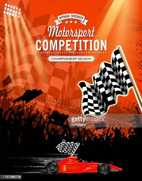 racing invitation - go carting stock illustrations, clip art, cartoons, & icons