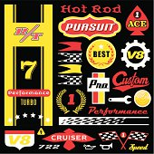 Racing Logos Black