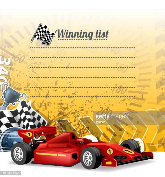 racing message - grand prix motor racing stock illustrations