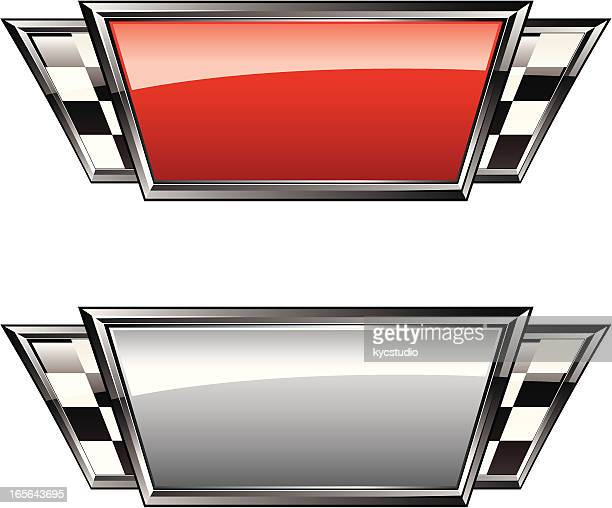 racing plaques - checkered flag stock illustrations