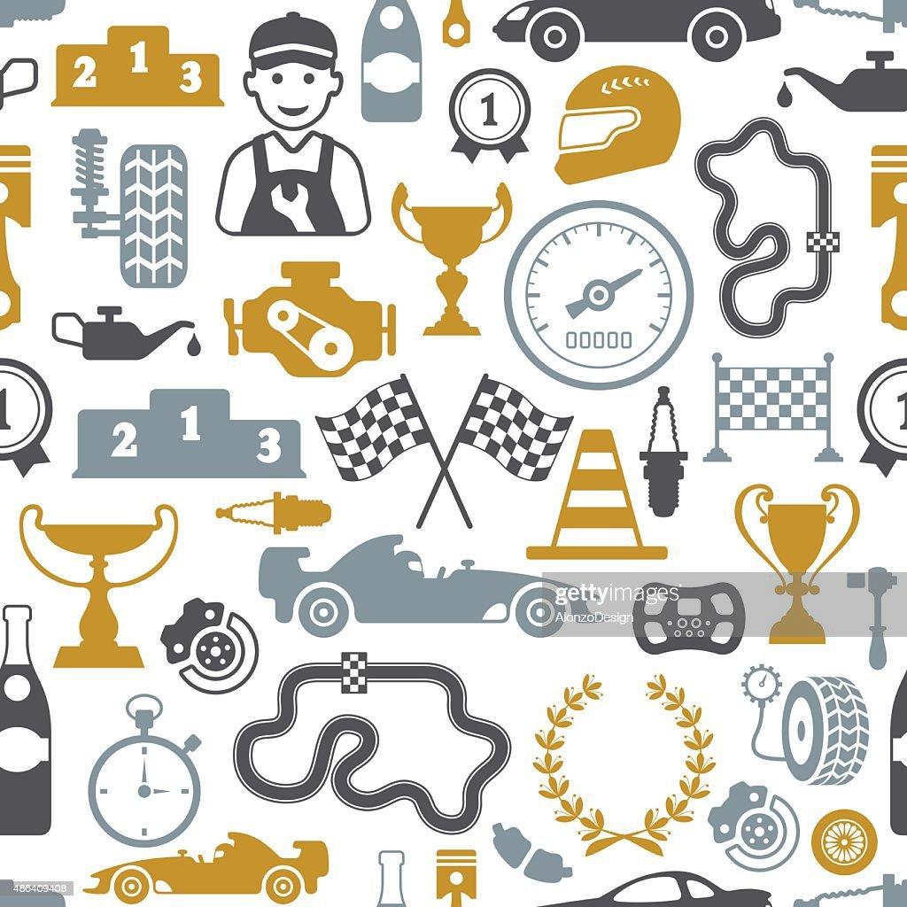 Racing Seamless : stock illustration