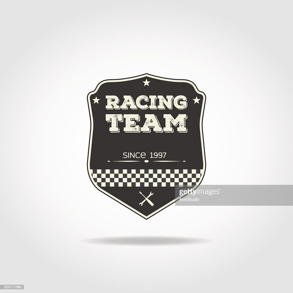 Racing team badge