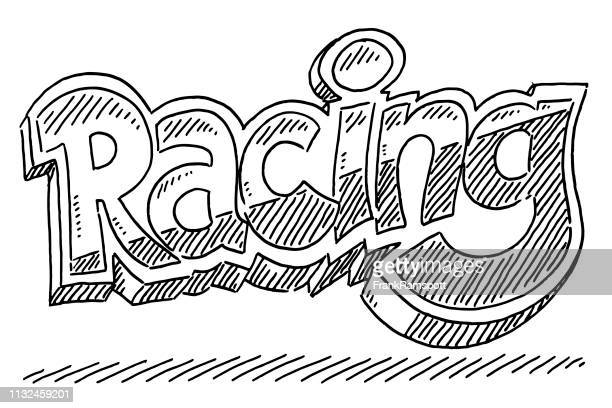 Racing Text Zeichnung