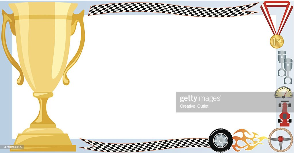 Racing Trophy Frame C Vektorgrafik | Getty Images