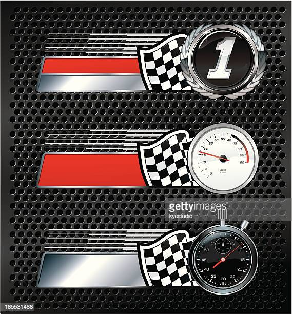 racing victory emblems - rally car racing stock illustrations, clip art, cartoons, & icons