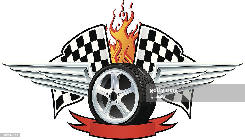 Racing winged wheel