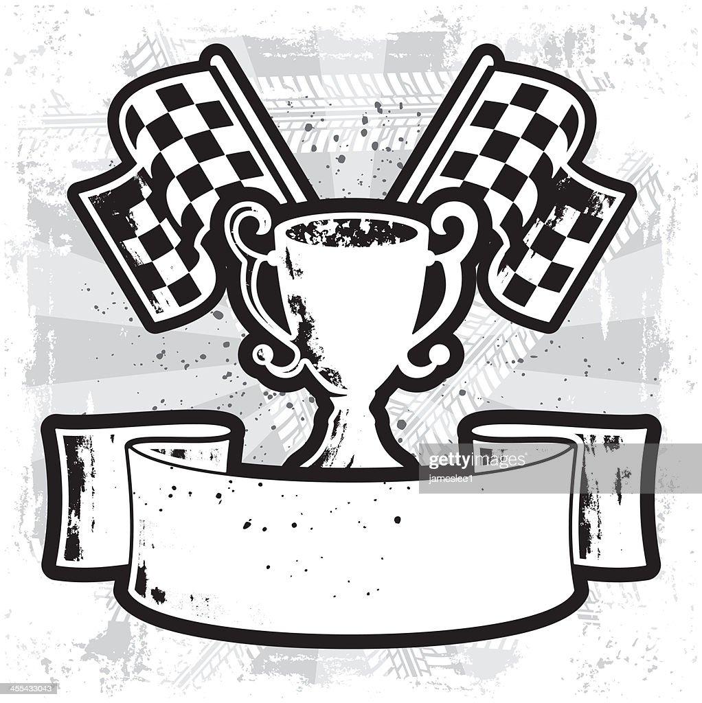 racing winner banner vector art getty images