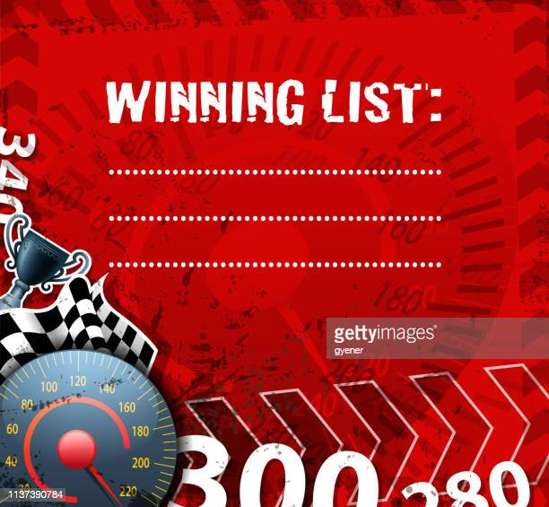 racing winning sign - go carting stock illustrations, clip art, cartoons, & icons
