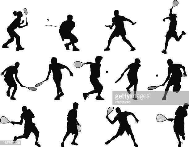 racquet sports - racket stock illustrations