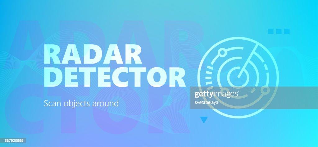 Radar detector colorful gradient banner